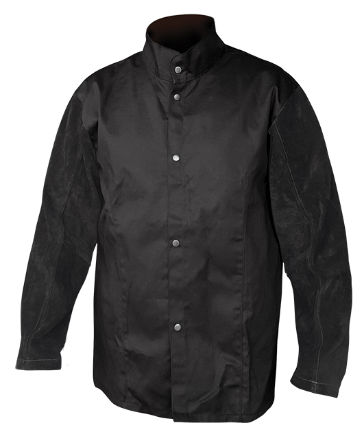 Armour Safety Products Ltd. - Armour Black FR Jacket With Leather Sleeves